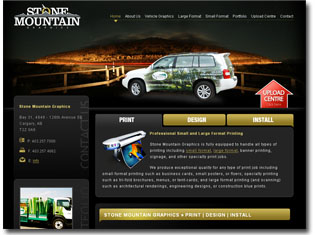 featured project - stone mountain graphics